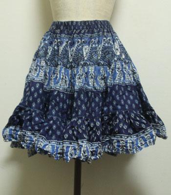 ネイビー ペイズリー柄 プロバンススカート