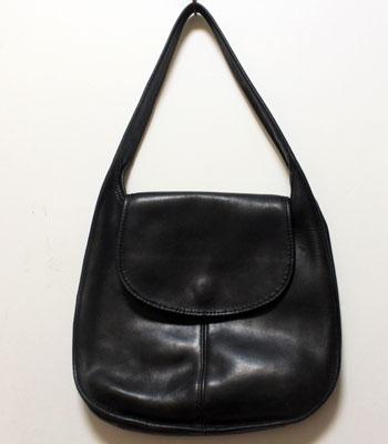 ブラック コーチ レザーショッパーバッグ