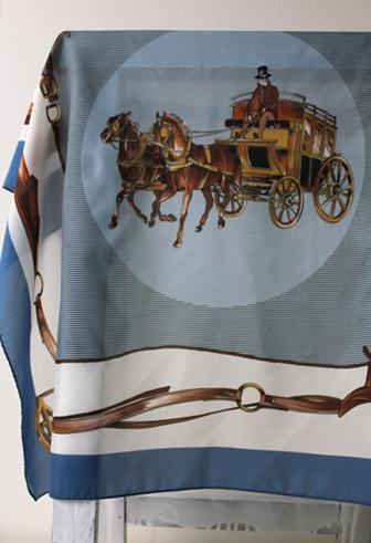 馬車柄 アンティークスカーフ