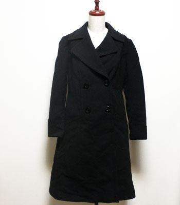 ブラック ウールコート