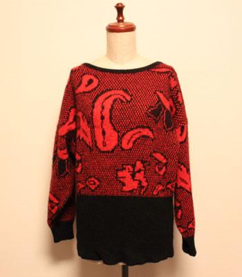 イタリア製 ペイズリー柄 セーター