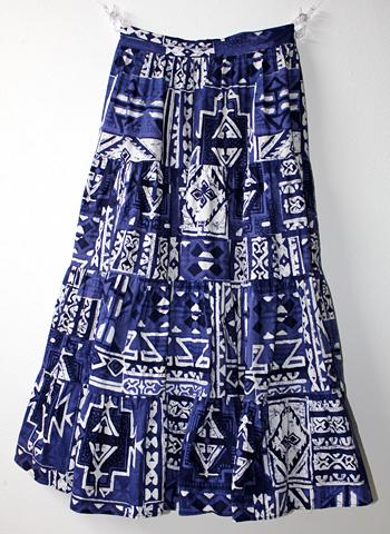 紺x白 ヨーロピアンスカート