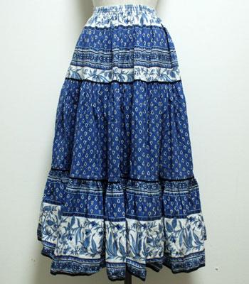 ブルー プロバンススカート