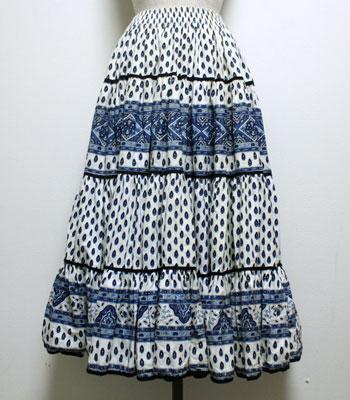 ブルー×白 プロバンススカート