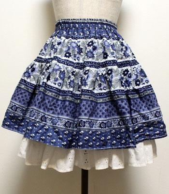 ペチ付き ネイビー プロバンススカート
