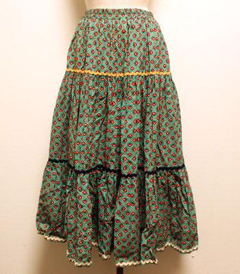 デッドストック グリーン プロバンススカート