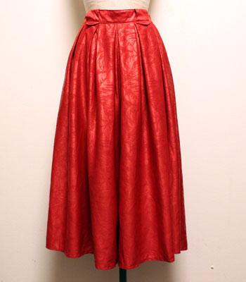 レッド キュロットスカート