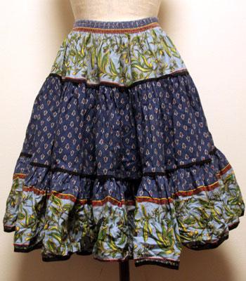インディゴ×ネイビー ペイズリー柄 プロバンススカート