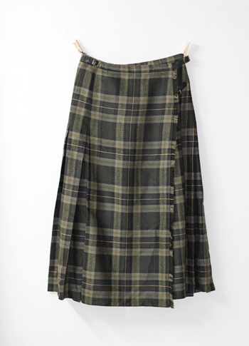 グレー キルトスカート