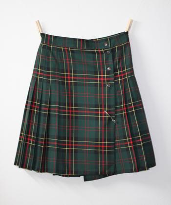 グリーン キルトスカート