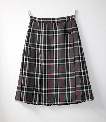 グレー イタリア製キルトスカート