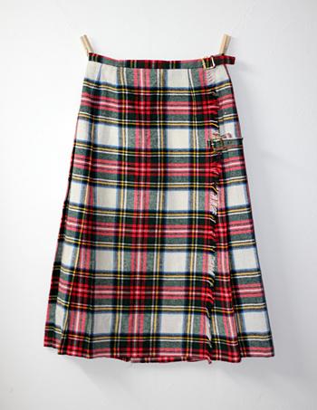 赤×白 キルトスカート