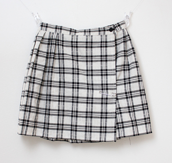 白×グレー キルトスカート