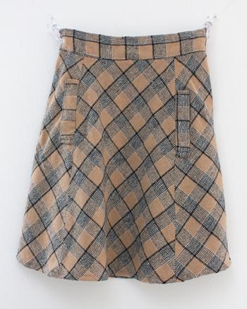 ライトブラウン キルトスカート