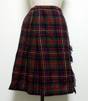 グリーン×ネイビー×レッド キルトスカート