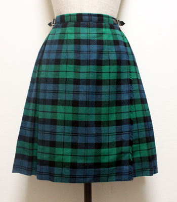 グリーンのタータンチェック オニールオブダブリン キルトスカート