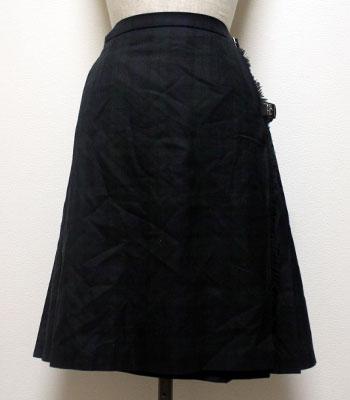 深緑のタータンチェック ローラアシュレイ キルトスカート