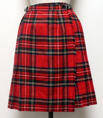 赤のタータンチェック オニールオブダブリン キルトスカート
