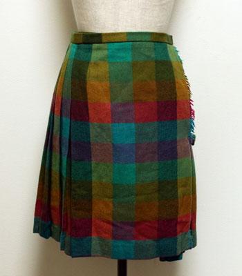 レインボーカラー キルトスカート