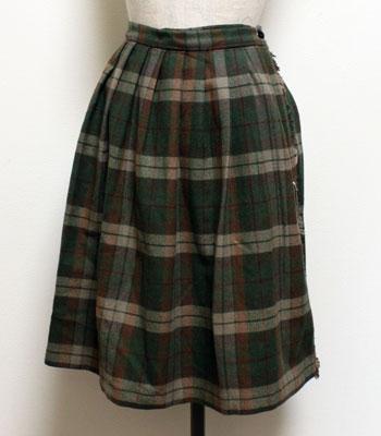 フォレストグリーン×ブラウン SCAPA キルトスカート