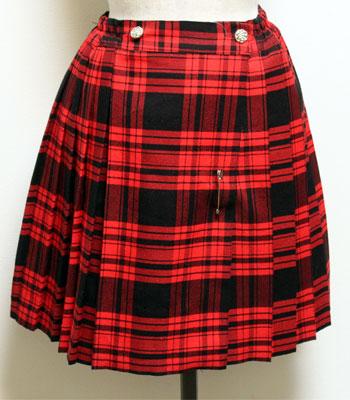 レッド×ブラック キルトスカート