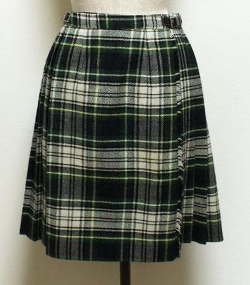 グリーン×白のタータンチェック オニールオブダブリン キルトスカート