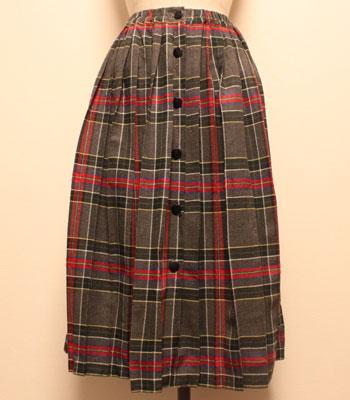 フランス製 キルトスカート