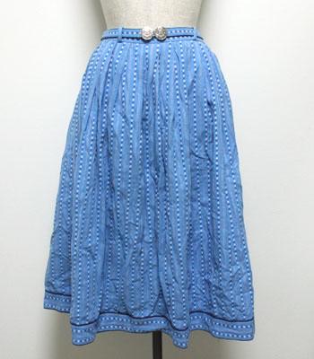 水色 チロリアンスカート