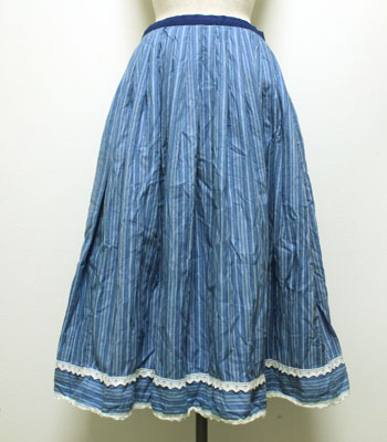 ブルー チロリアンスカート