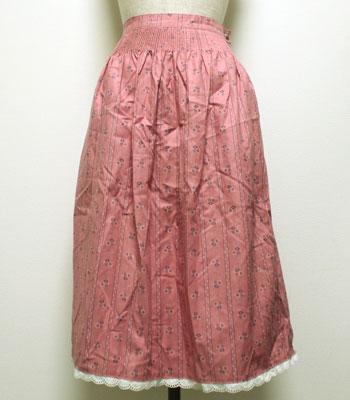 ピンクの小花柄 チロリアンスカート