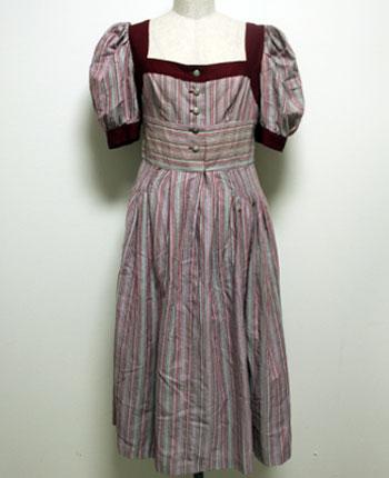 ワインレッド×ピンク チロリアンスカート